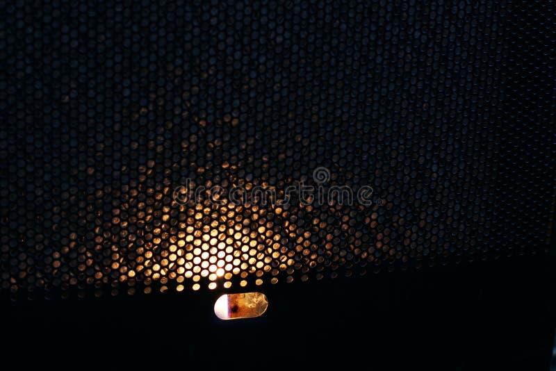 Le feu dans le convecteur heat photo libre de droits