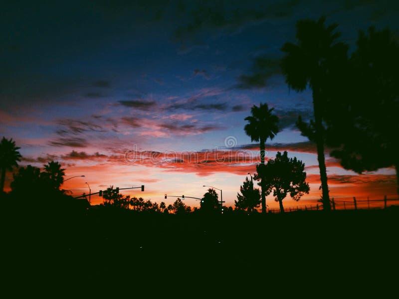 Le feu dans le ciel photographie stock