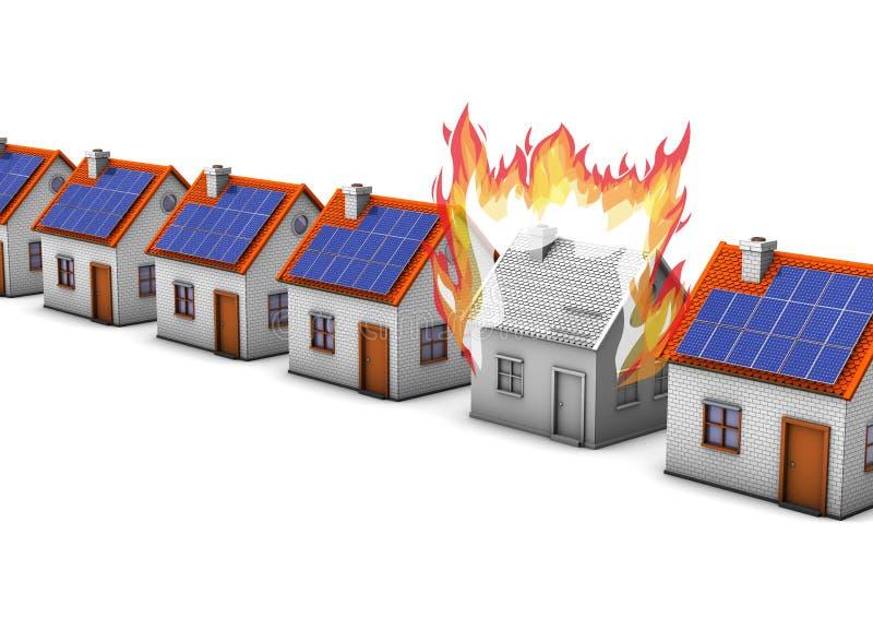 Le feu de bâtiment illustration libre de droits