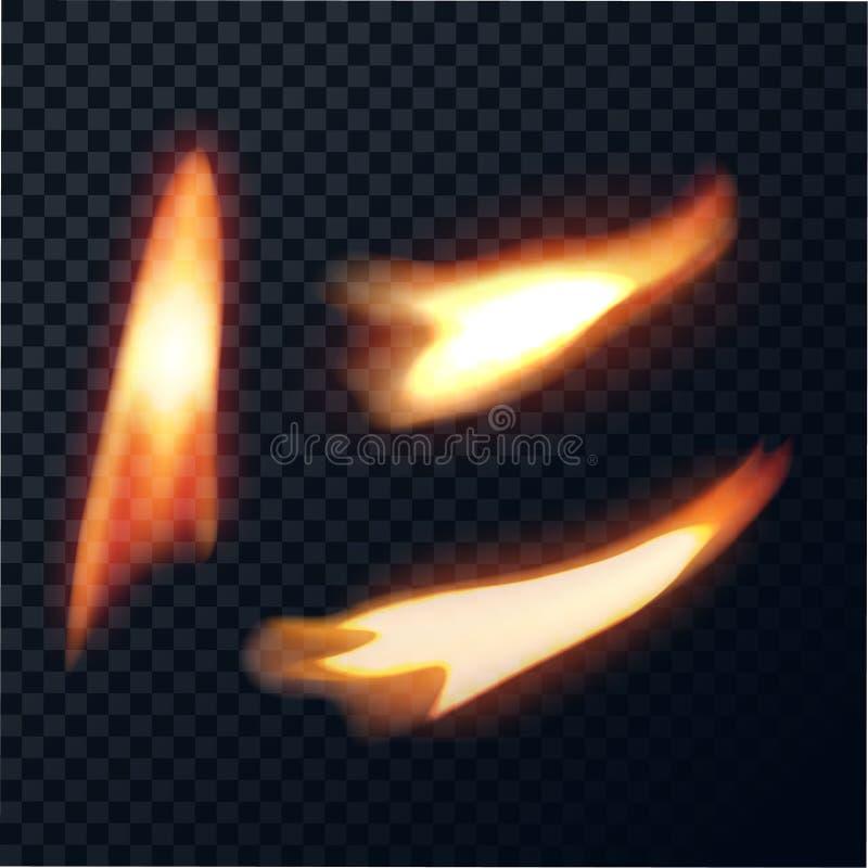 Le feu de bougie direct et incliné illustration stock