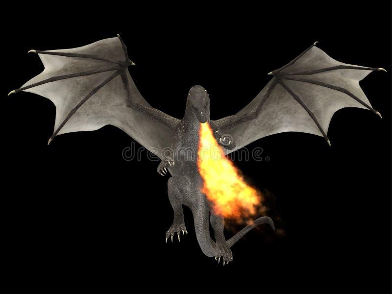 Le feu de dragon photographie stock libre de droits