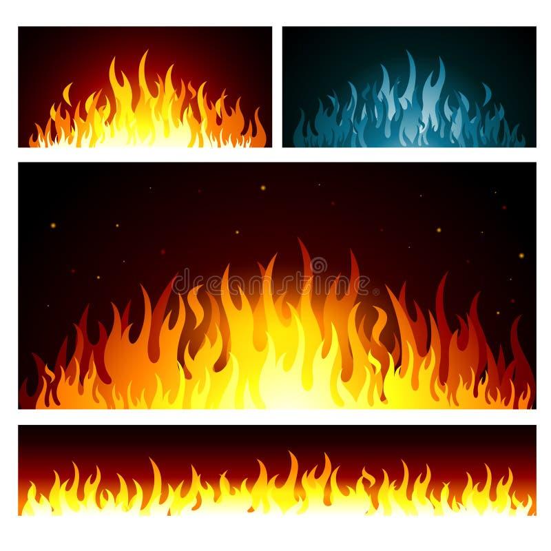 Le feu de graphique de vecteur flambe le fond illustration libre de droits