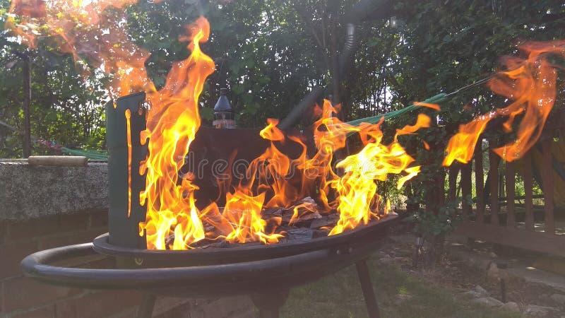 Le feu de gril photographie stock libre de droits
