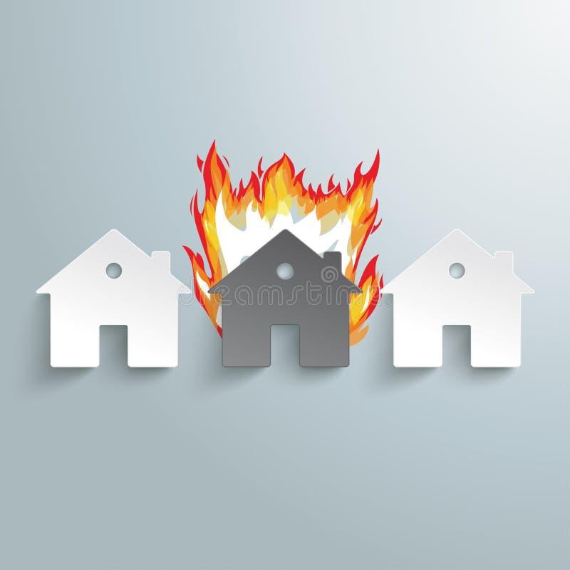 Le feu de papier PiAd de trois Chambres illustration libre de droits