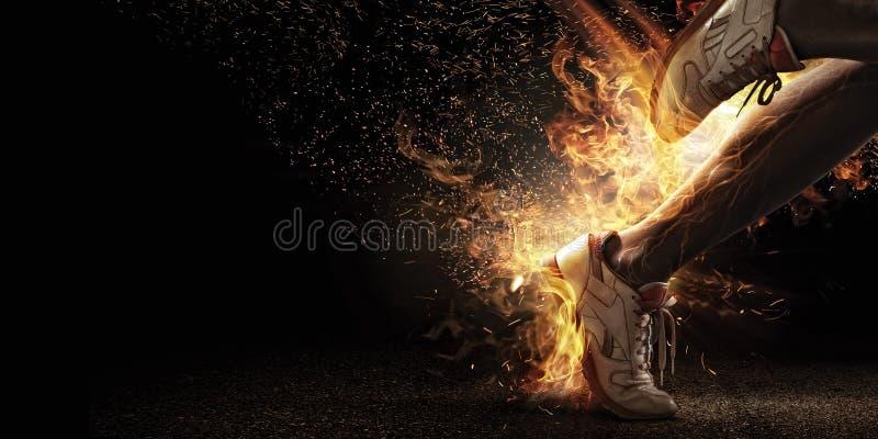 Le feu et énergie image stock