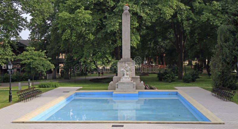 Le feu et la piscine éternels en parc de Gyor photo stock
