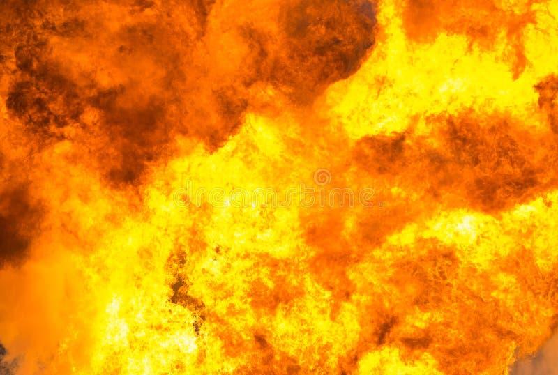 Le feu, explosion ardente, fond de souffle images stock