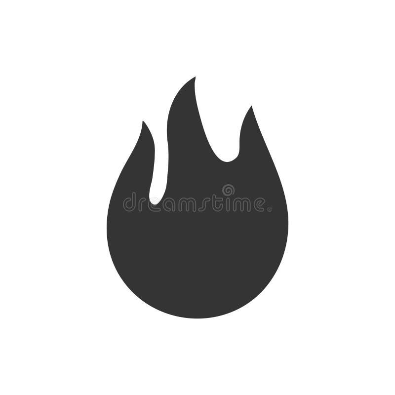 Le feu, icône de flamme illustration libre de droits