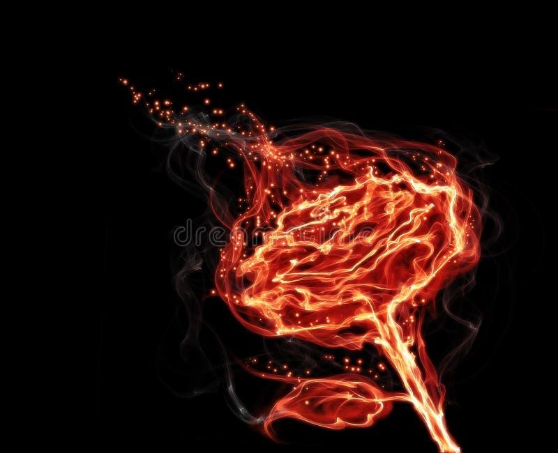 Le feu magique a monté illustration stock