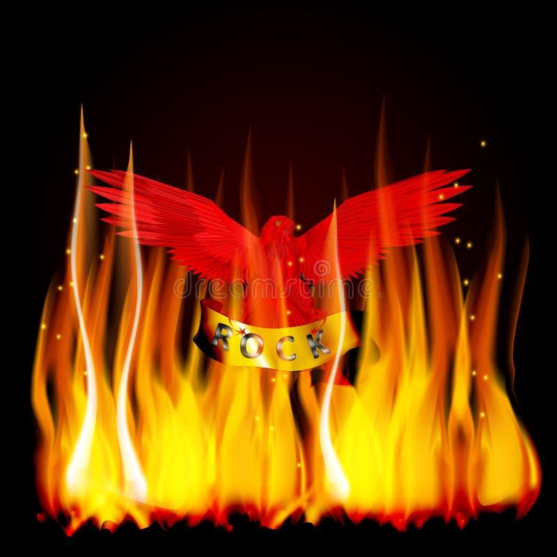 Le feu rouge d'aigle illustration de vecteur