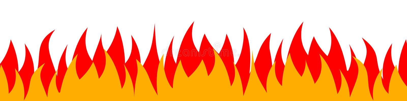 Le feu sur un fond blanc Illustration de vecteur pour la conception - vecteur illustration stock