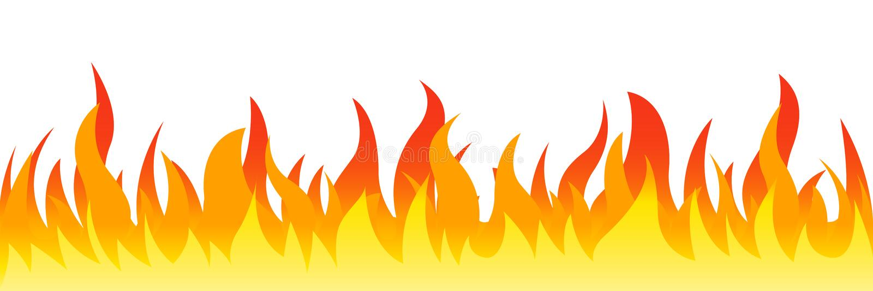 Le feu sur un fond blanc Illustration de vecteur pour la conception - pour des actions illustration libre de droits
