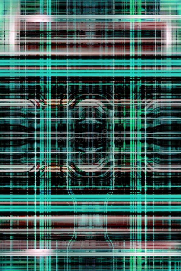 Le feu vert traîne la grille illustration de vecteur