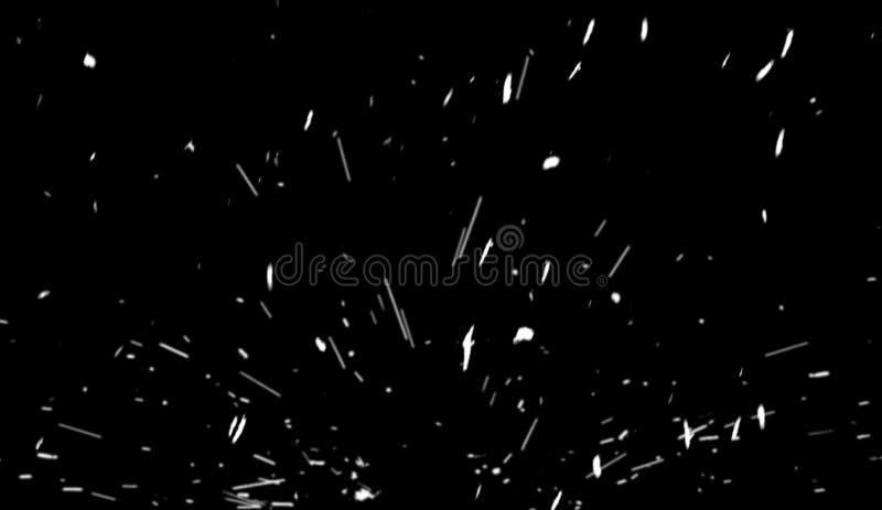 Le feu volant de braise al?atoire du feu suscite des particules d'isolement sur le fond noir pour la conception recouverte illustration stock