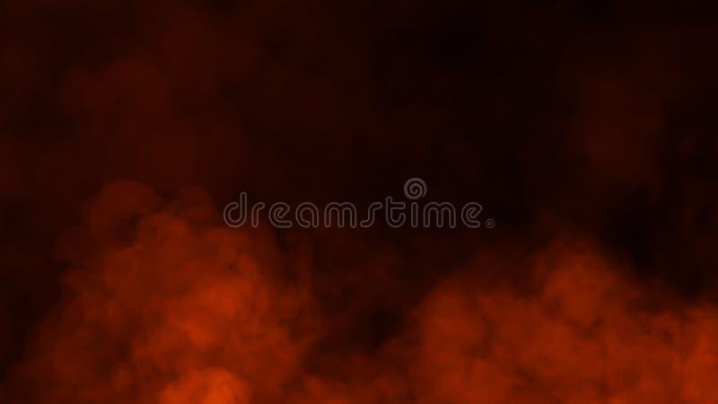 Le fiamme del fuoco strutturano su fondo nero isolato Sovrapposizioni perfette di struttura per lo spazio della copia Elemento di fotografia stock