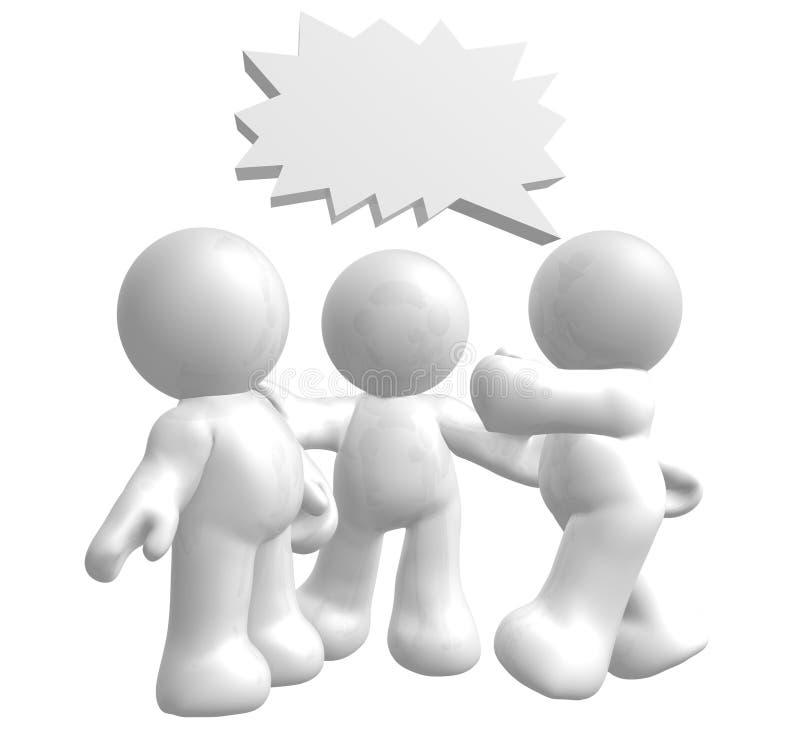 Le figure dell'icona godono di di chiacchierare con gli aerostati comici illustrazione di stock