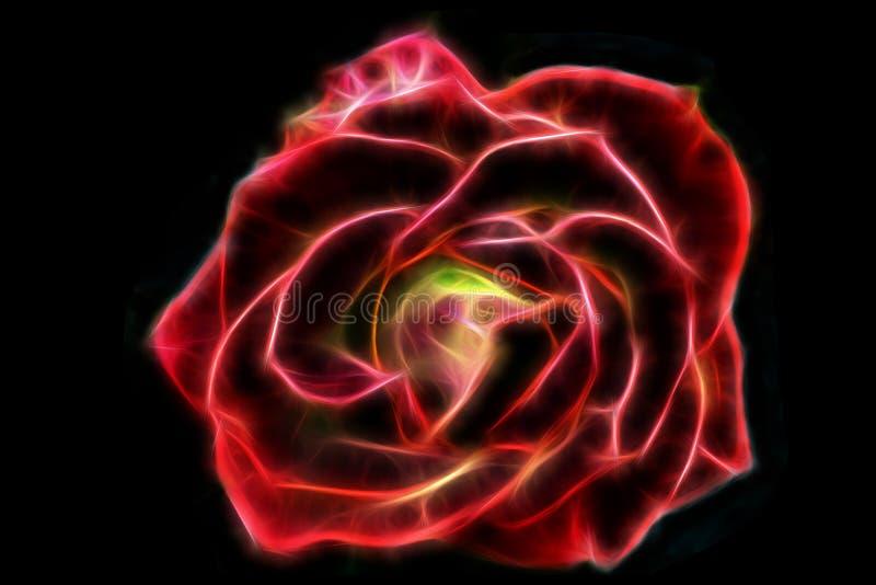 Le fil abstrait de lueur s'est levé illustration de vecteur