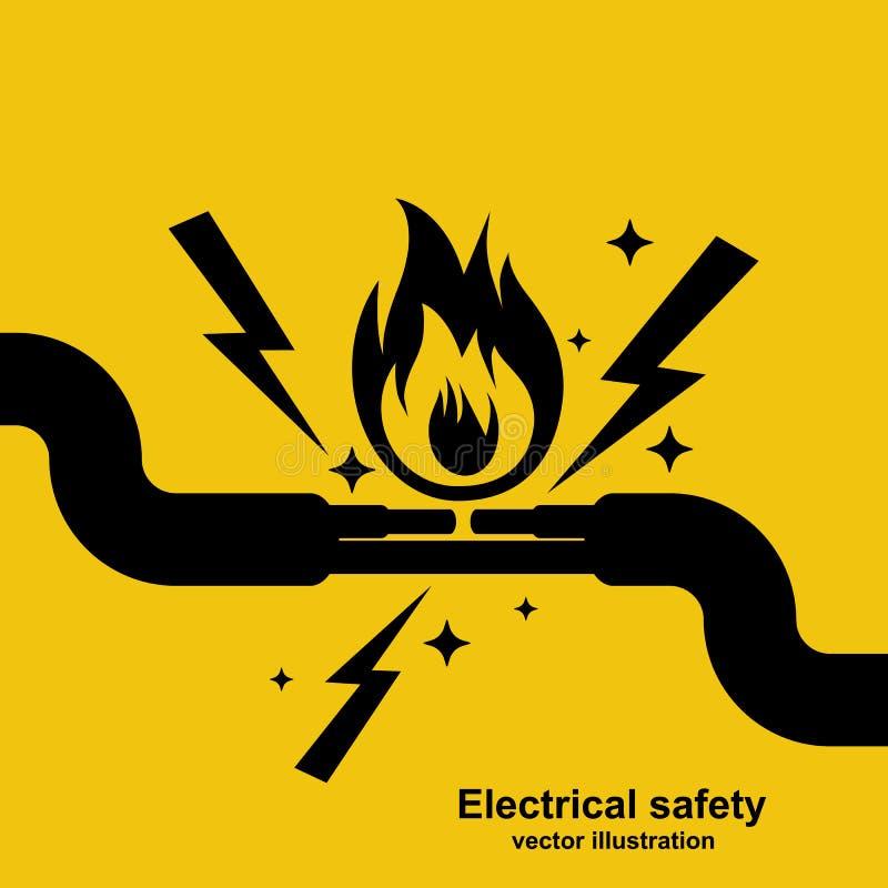 Le fil noir d'icône brûle le vecteur illustration libre de droits