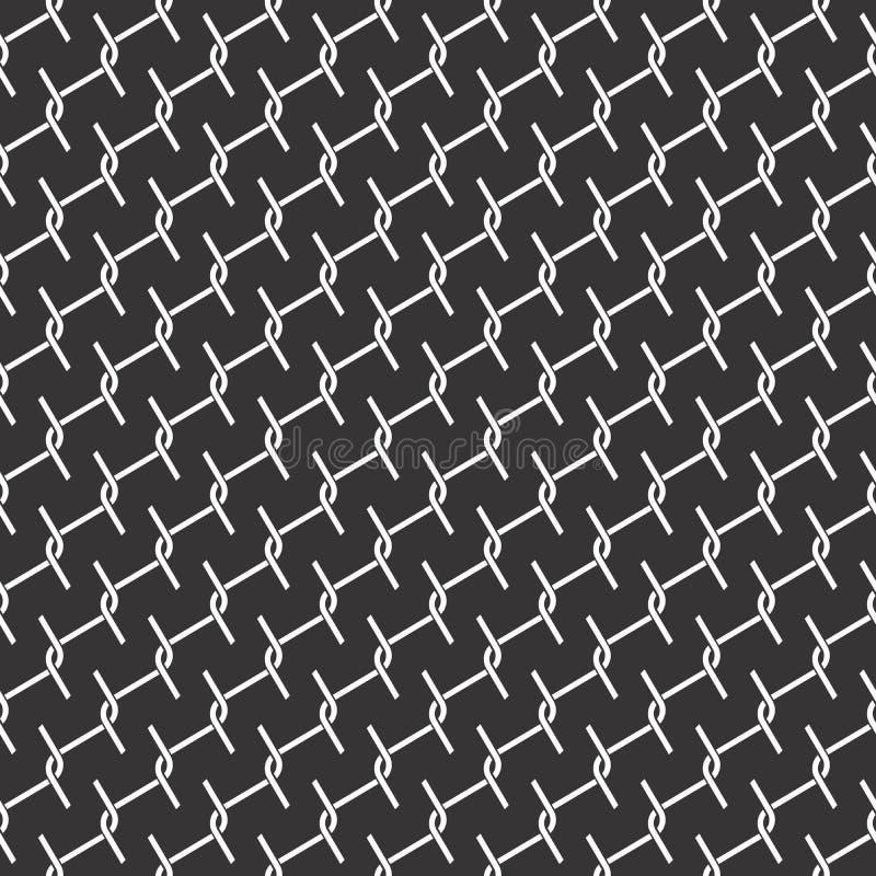 Le fil sans couture noir et blanc vérifie le modèle géométrique illustration libre de droits