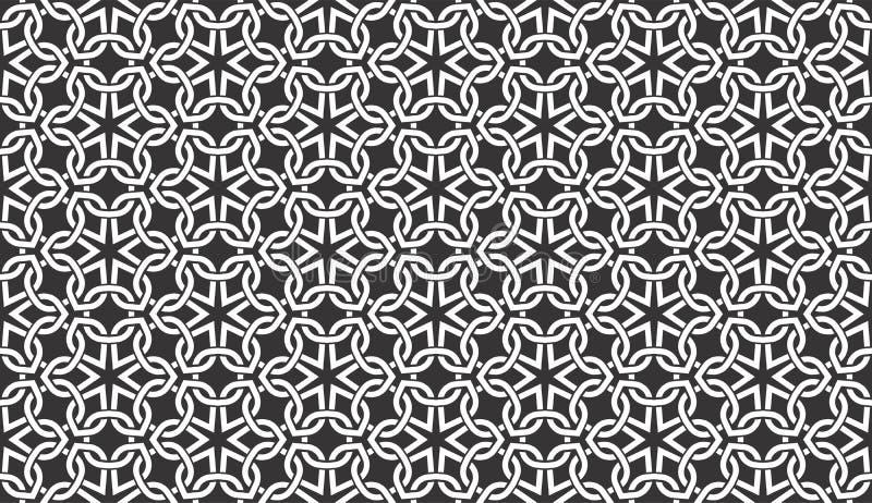 Le fil sans couture noir et blanc vérifie le modèle géométrique illustration de vecteur