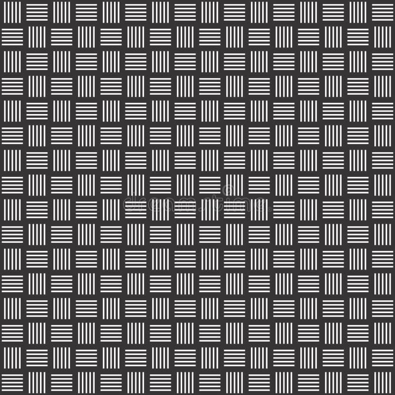 Le fil sans couture noir et blanc vérifie le modèle géométrique illustration stock