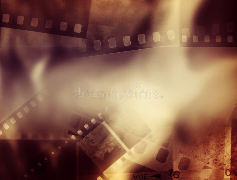 Le film dépouille le fond photo stock