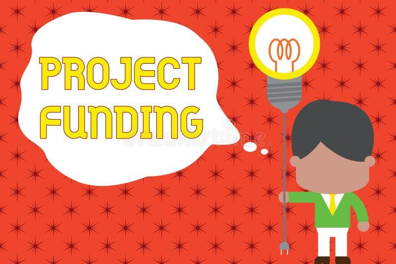 Le financement de projet des textes d'?criture de Word Le concept d'affaires pour payer commencent dans l'ordre ? le rendre plus  illustration libre de droits
