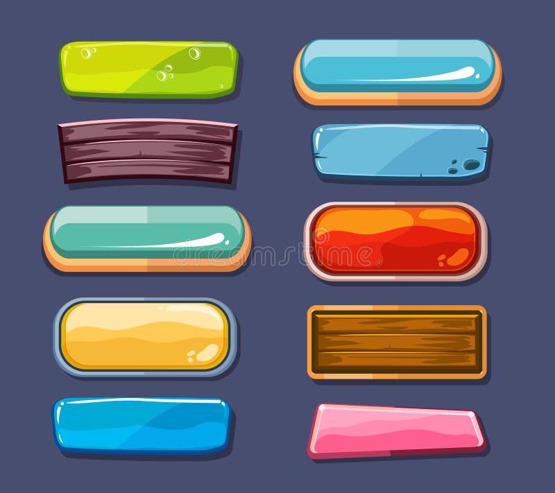 Le finestre di selezione di opzioni, vettore delle regolazioni del pannello hanno messo per l'interfaccia utente dei giochi di co royalty illustrazione gratis