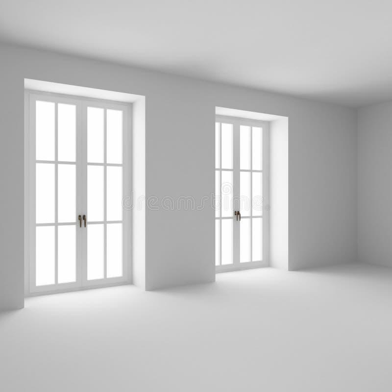 Le finestre francesi si sono chiuse fotografia stock libera da diritti
