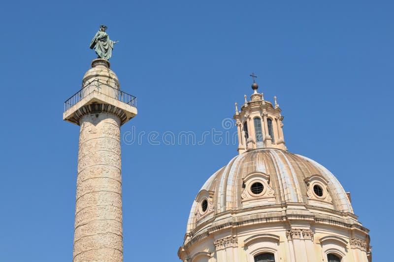 Le fléau de Trajan à Rome, Italie images libres de droits