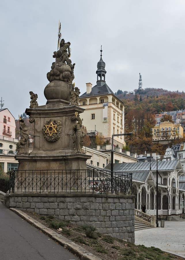 Le fléau de trinité sainte, Karlovy varient image libre de droits