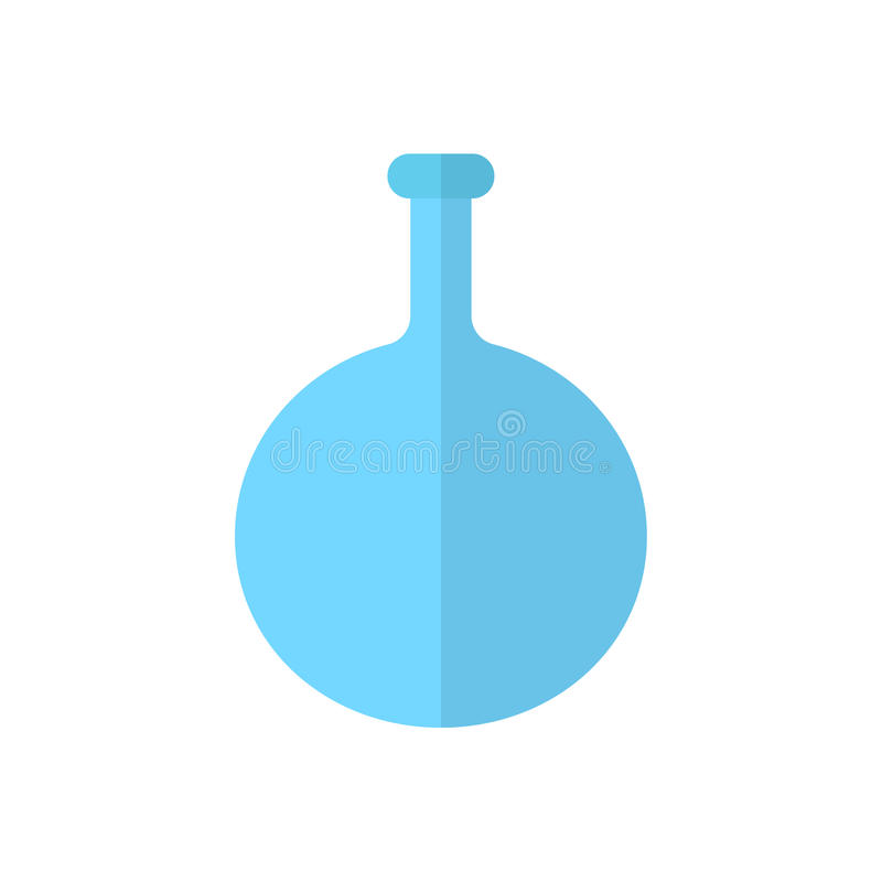 Le flacon de fond rond, icône plate de becher, a rempli signe de vecteur, pictogramme coloré d'isolement sur le blanc illustration de vecteur