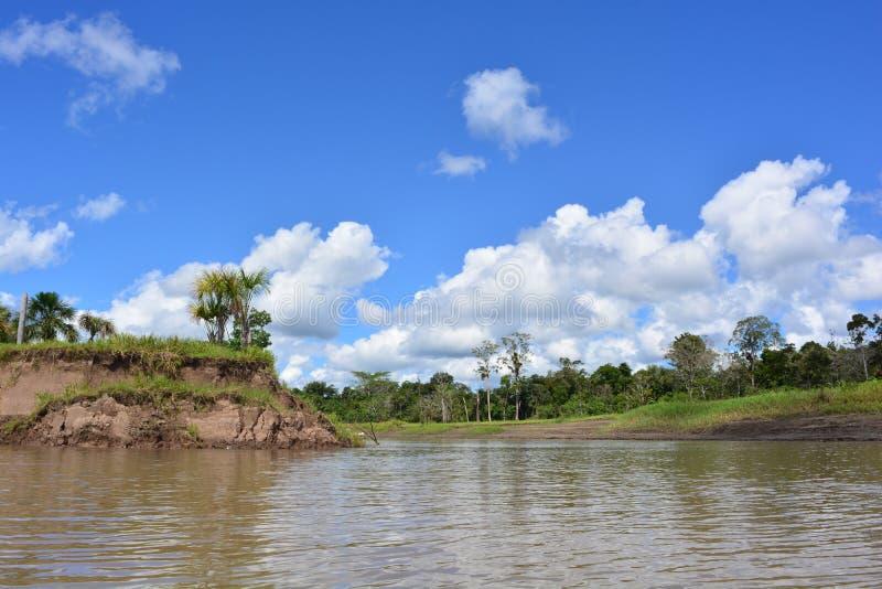 Le fleuve Amazone, dans la jungle d'Amazone, le Pérou photographie stock