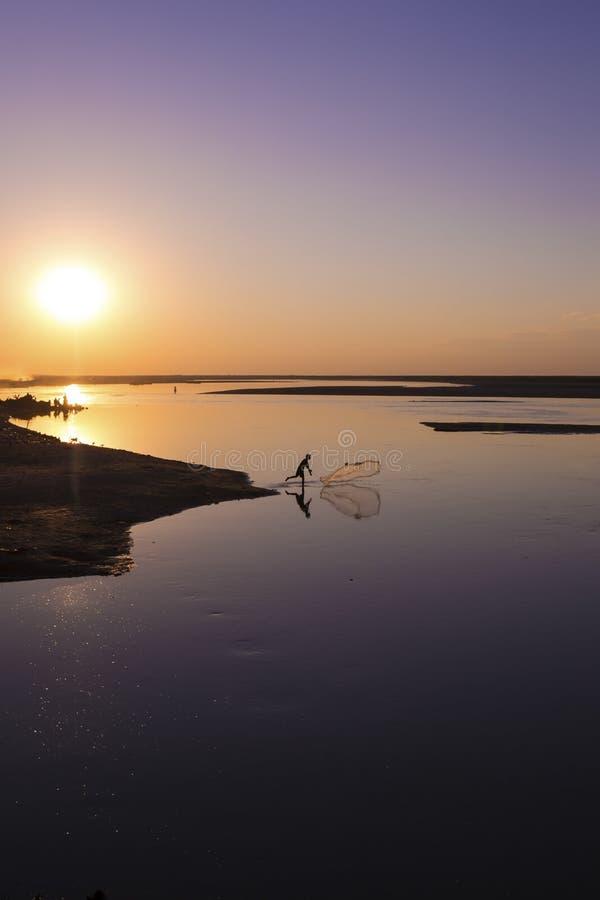 Le fleuve Brahmapoutre images libres de droits