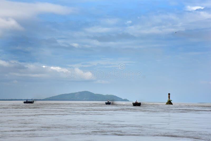 Le fleuve Brahmapoutre images stock