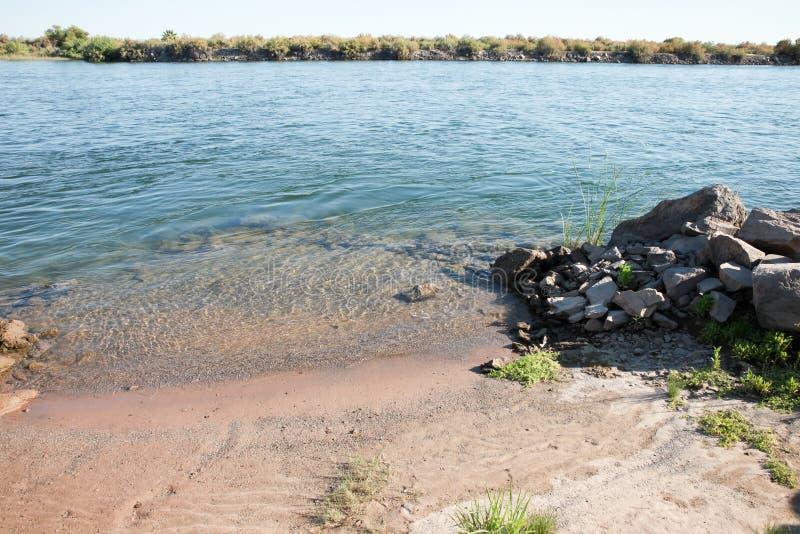 Le fleuve Colorado calme et paisible images libres de droits