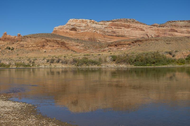 Le fleuve Colorado chez Dewey Bridge Campground photo libre de droits