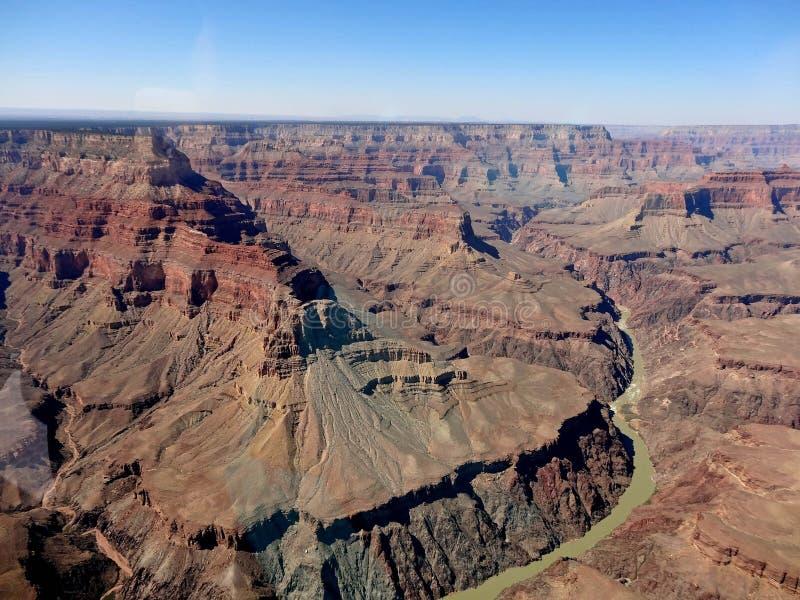 Le fleuve Colorado dans le canyon grand photos libres de droits