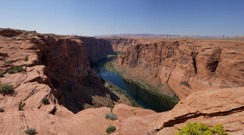 Le fleuve Colorado en Glen Canyon (Arizona, Etats-Unis) photos libres de droits