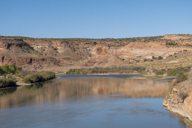 Le fleuve Colorado et Dewey Bridge Campground photos libres de droits