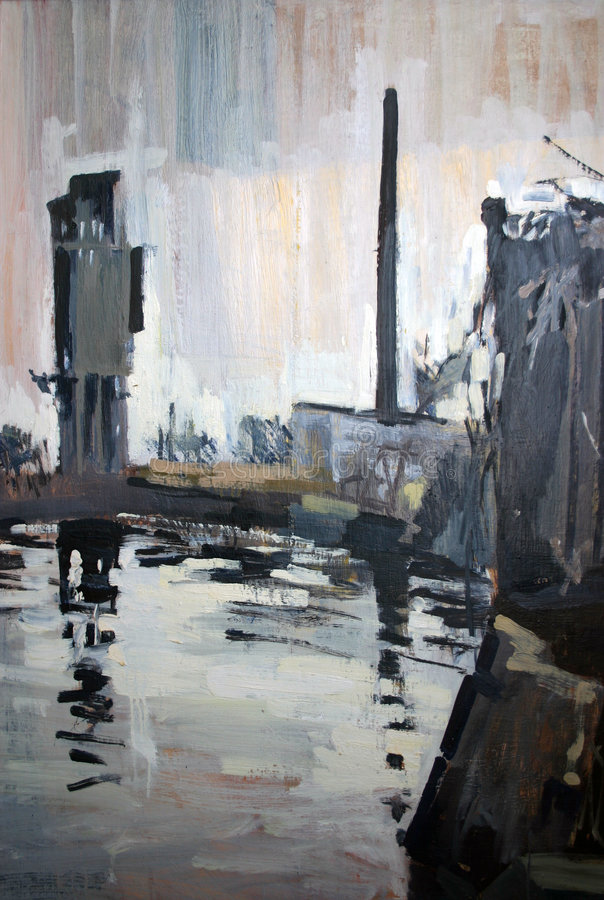 Le fleuve d'Odra illustration stock