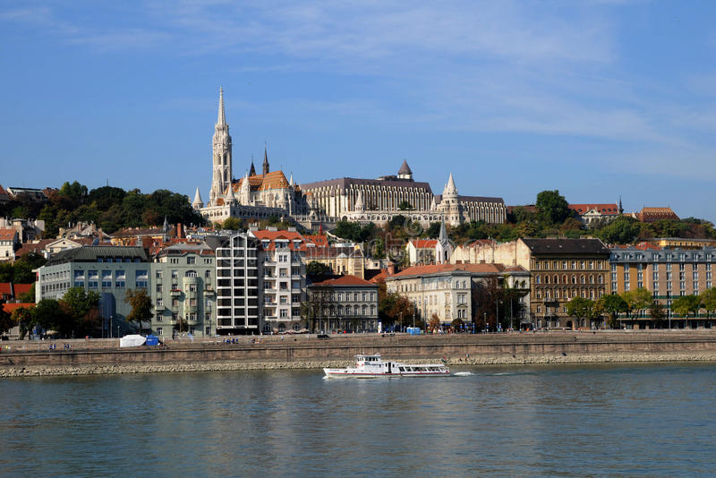 Le fleuve de Danube à Budapest images libres de droits