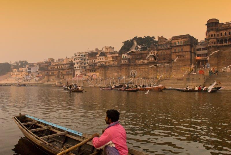 Le fleuve de Ganges. l'Inde photo libre de droits
