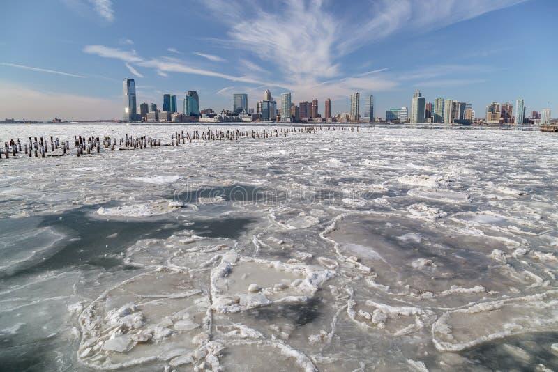 Le fleuve Hudson en hiver photo libre de droits