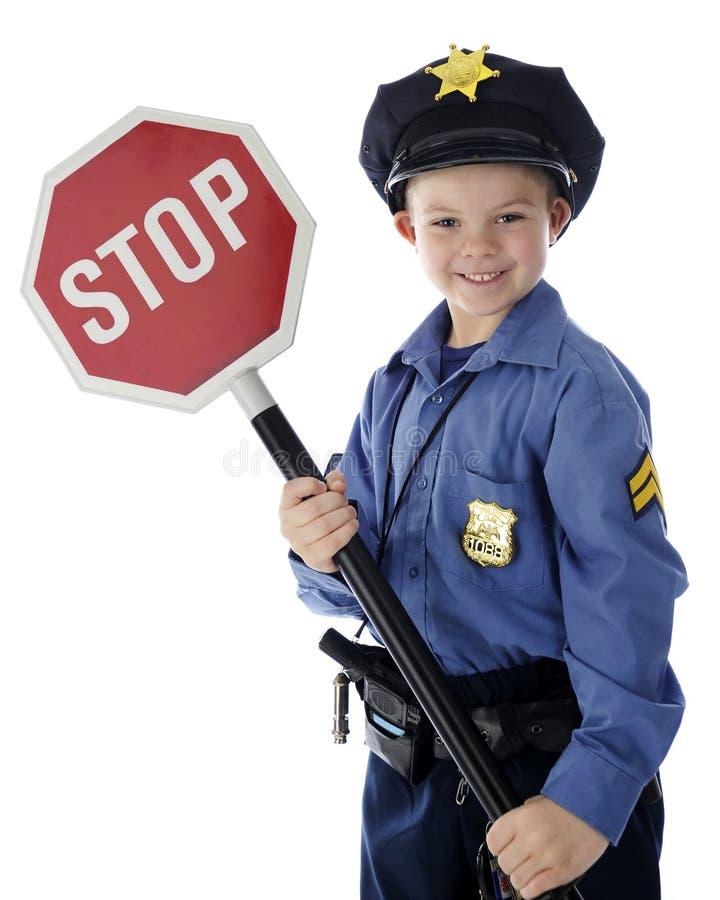 Le flic dit l'arrêt photo libre de droits