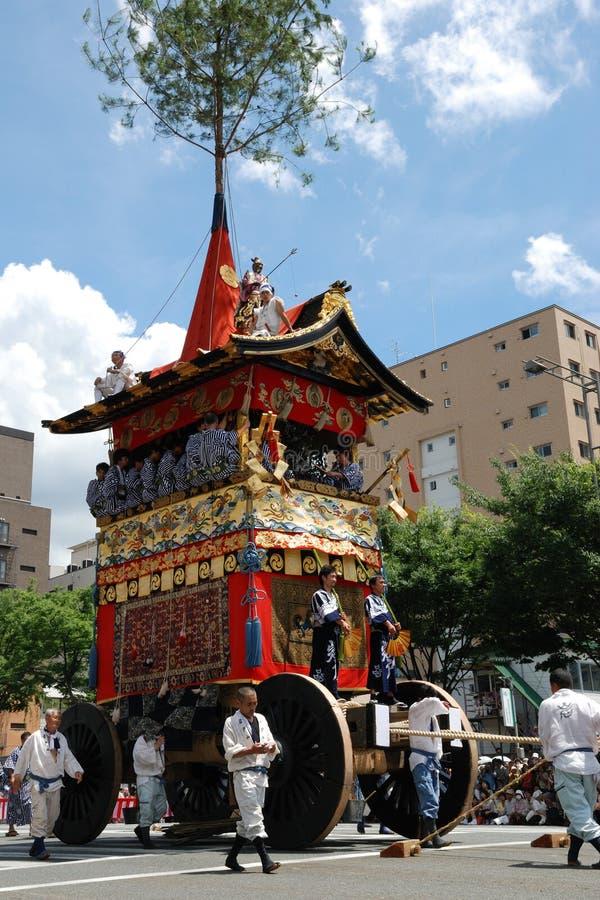 Le flotteur de Gion Matsuri, festival du Japon photos libres de droits