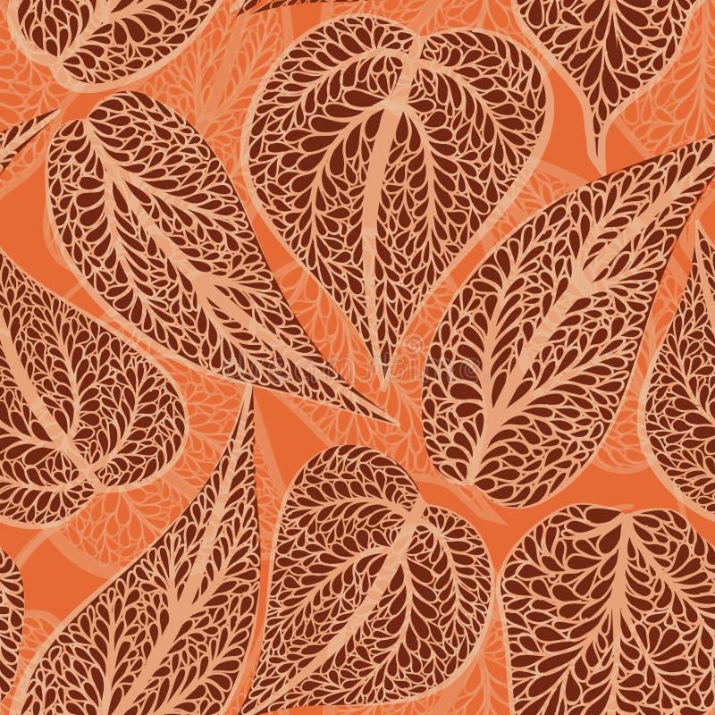 Le Flourish a couvert de tuiles le modèle Rétro fond floral Soutien-gorge incurvé d'arbre illustration libre de droits