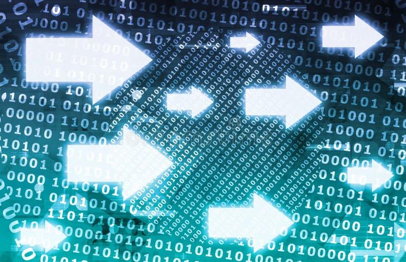 Le flux de données binaires illustration libre de droits