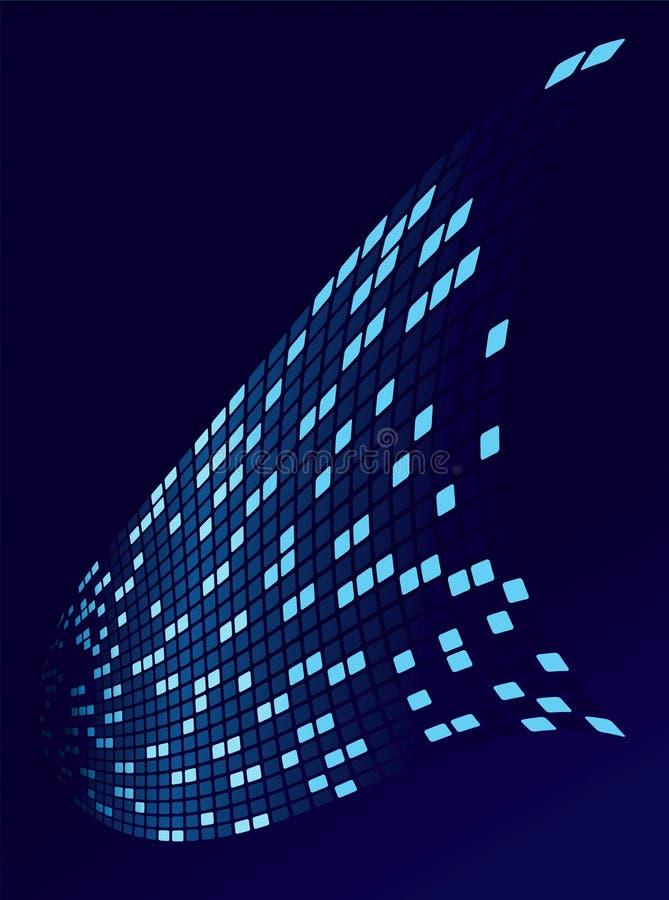 Le flux de données de Digitals illustration libre de droits
