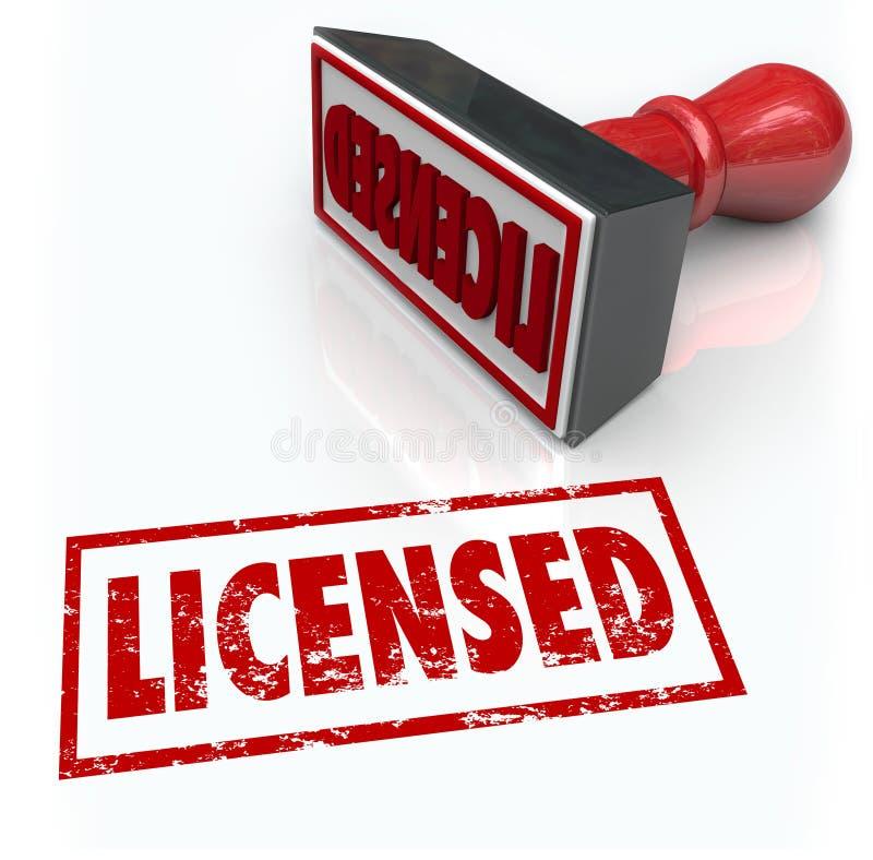Le fonctionnaire autorisé de timbre a autorisé certifié illustration de vecteur